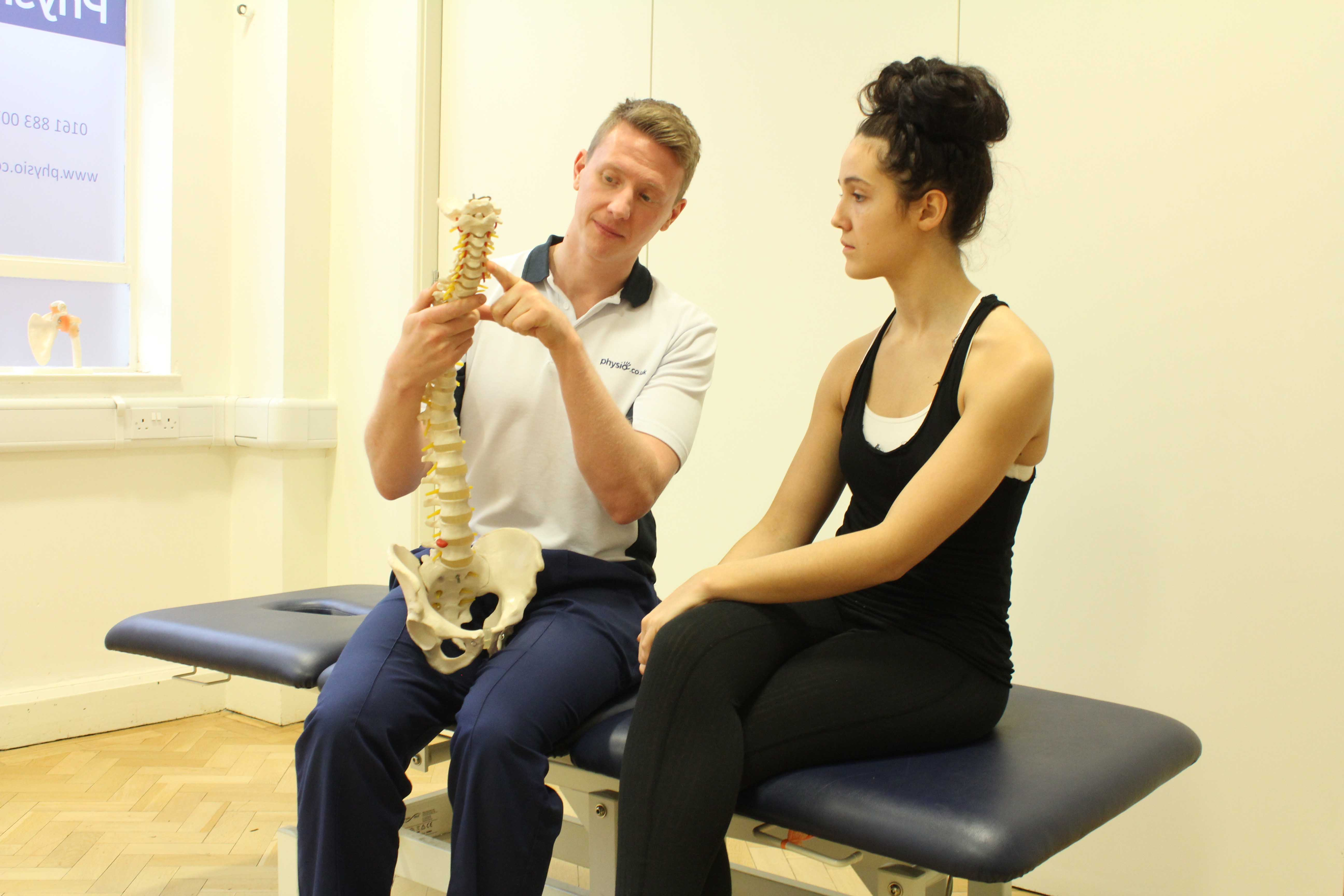 Core stability and back toning exercises supervised by an experienced physiotherapist