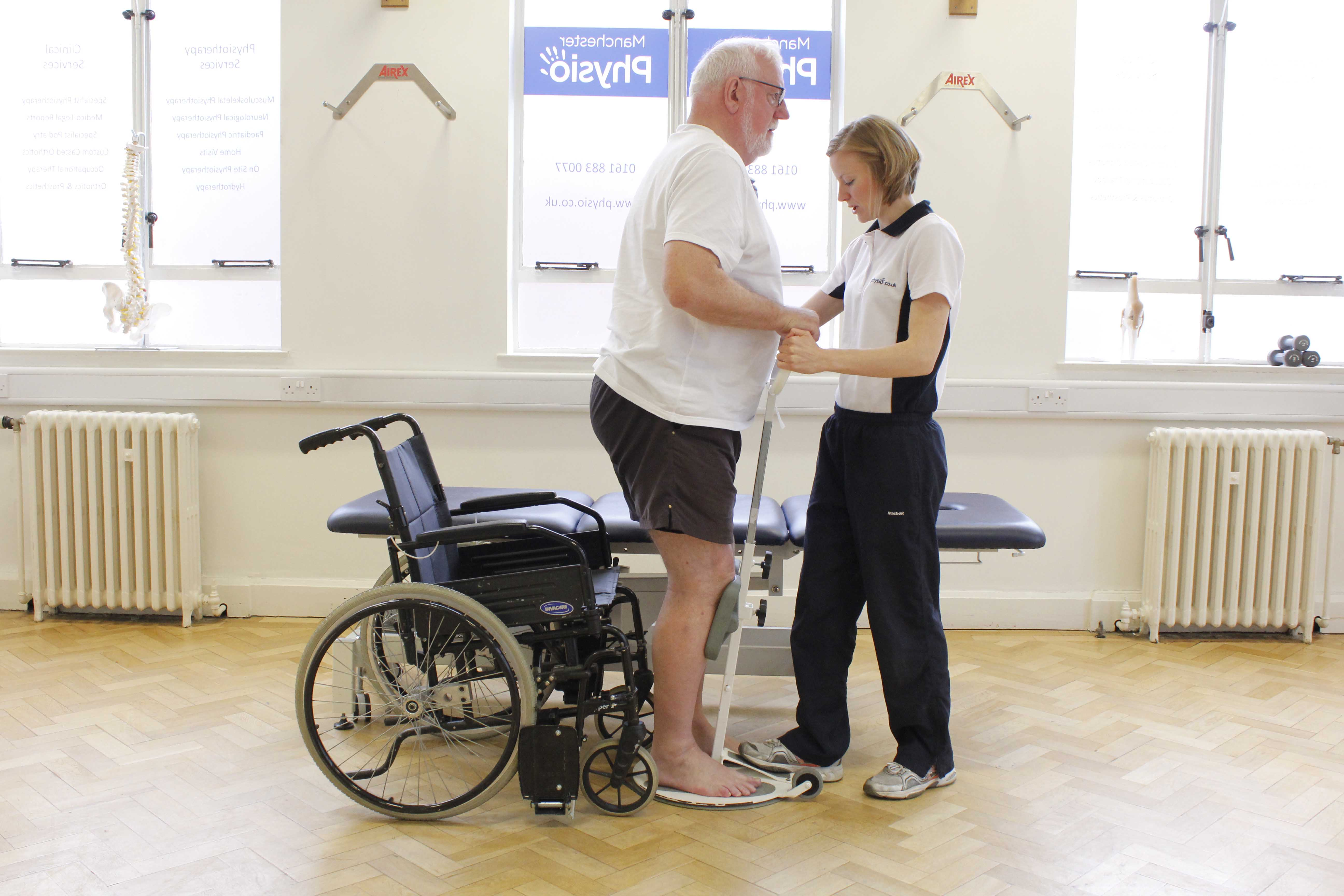 Rehabilitation following a spinal cord injury.